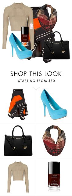 """""""Untitled #590"""" by xxsilentsilverxx ❤ liked on Polyvore featuring Peter Pilotto, MICHAEL Michael Kors, Topshop, Chanel and White House Black Market"""