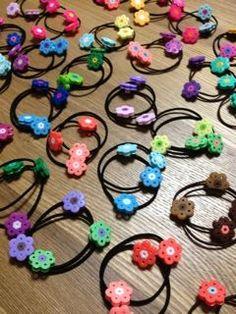 アイロンビーズ de お花の髪ゴム | ハンドメイドで豊かな暮らし