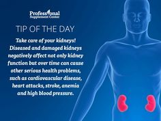 Health Tip of the Day - Be kind to your kidneys!