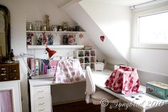 In my Perfect World I have an Attic for a Craft Room... maybe someday.