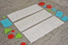 Přiřazování tvarů podle velikosti na vzor.