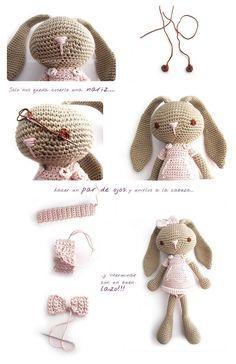 Mesmerizing Crochet an Amigurumi Rabbit Ideas. Lovely Crochet an Amigurumi Rabbit Ideas. Crochet Animal Amigurumi, Crochet Amigurumi Free Patterns, Crochet Animals, Crochet Dolls, Amigurumi Toys, Crochet Diy, Crochet For Kids, Crochet Bunny Pattern, Doll Tutorial