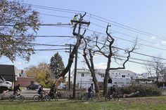 Thanks to Zap2It for compiling these....Sandy aftermath - Repairing power lines and much more....