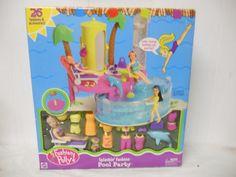 Amazon.com: Polly Pocket Splashin' Fashion Pool Party Playset: Toys & Games