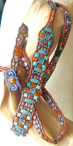 WONDER Gemstone 5Wrap Leather Bracelet by BraceletsofBlueRidge
