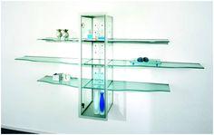 Charmant Glass Shelves Living Room