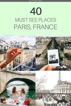 40 MUST SEE PLACES PARIS, FRANCE | paris, france, eiffel tower, the lourve, vacation, holiday ideas, places to go | Paris is so much for than the typical Eiffel Tower, who knew there were so many exquisite attractions!