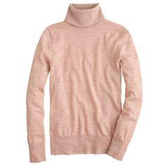 Sweaters; J Crew Merino turtleneck sweater (in hthr oak)
