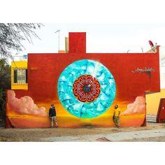 """""""La porte de l oasis"""" by monke_k6a + gonzalo_areuz in San Miguel de Allende, Mexico. GraffitiWorld Production 2016. Photo: @danielsime  #Graffitiworld #streetart #urbanart #spraypaint #graffiti #streetartandgraffiti #urbanwall #muralart #streetarteverywhere #streetartphotography #thisisstreetart #graffitimexico #streetartmexico #monke #oasis #eye #areuz #sanmigueldeallende #mexico #MONK.E #gonzalo_areuz"""