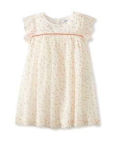 72% OFF Knot Girl's White Dot Chiffon Dress