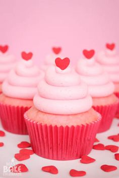 Heart Filled Cupcakes for Two