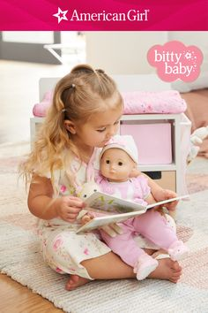 Your little one can share extra cuddles, kisses, and warm hugs as she reads to her Baby. Our new plush and board book sets are perfect for cozying up and sharing a quiet moment—and for your little one to learn about friendship, kindness, and caring. Shop Bitty Baby's plush and board book sets! Baby Dolls For Toddlers, Baby Doll Accessories, All American Girl, Warm Hug, Baby Learning, Board Book, Bitty Baby, Bedtime Stories, Cuddles