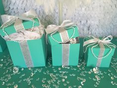 5x5 Bling Gift Box Centerpiece With Ribbon