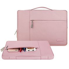 Mosiso Polyester Fabric Multifunctional Sleeve Briefcase Handbag Case Cover for 12.9-13.3 Inch Laptop, Notebook, MacBook Air/Pro, Pink   see more at  http://laptopscart.com/product/mosiso-polyester-fabric-multifunctional-sleeve-briefcase-handbag-case-cover-for-12-9-13-3-inch-laptop-notebook-macbook-airpro-pink/