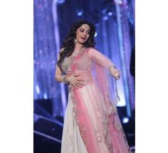 Madhuri White Net+Georgette Multi & Sequins Work Bollywood Replica Lehenga|Lehenga Choli|Ethnic Wear