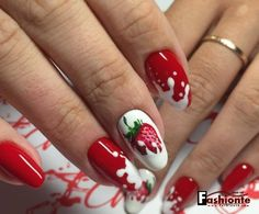 14 Latest Nail Art Designs . Strawberry VS Yogurt & Fashionte