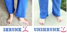 "How to ""unshrink"" your shrunk clothes 