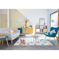 80 Stunning Colorful Living Room Decor Ideas And Remodel for Summer Project 41 – Home Design Interior Wall Colors, Interior Design Living Room, Living Room Designs, Living Spaces, Small Living, Living Rooms, Living Room Decor Colors, Colourful Living Room, Apartment Chic