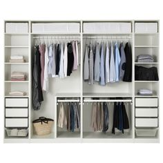 IKEA - PAX, Garderobeskab, 300x58x236 cm, , 10 års garanti. Læs betingelserne i garantifolderen.Du kan nemt tilpasse denne færdiglavede PAX/KOMPLEMENT kombination med PAX indretningsværktøj efter dine behov og din smag.Hvis du vil ha' orden indvendigt, kan du supplere med indretning fra KOMPLEMENT serien.Indstillelige fødder gør det muligt at afhjælpe ujævnheder i gulvet.