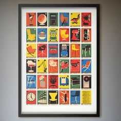 Design Classics A-Z Alphabet Print by 67 Inc - http://www.differentdesign.it/2013/07/01/design-classics-a-z-alphabet-print-by-67-inc/