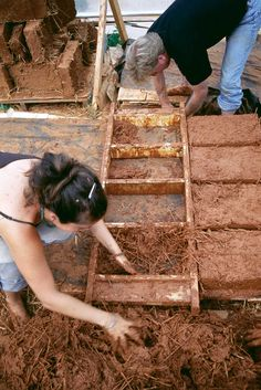 Building Earthen Homes Using the Original DIY Material--Making adobe blocks is time-consuming but not difficult. Getting the mix right is key. Read more: http://www.motherearthnews.com/diy/earthen-homes-zm0z12aszmat.aspx?ViewAll=True#ixzz2TNzLtzFh