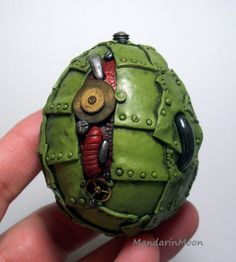 Steampunk dragon egg by MandarinMoon on deviantART
