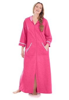 Plus Size Hooded French terry robe by Dreams & Co® | Plus Size robes & slippers | Woman Within