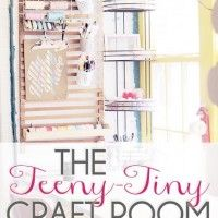 Small craft room with lots of awesome storage ideas!