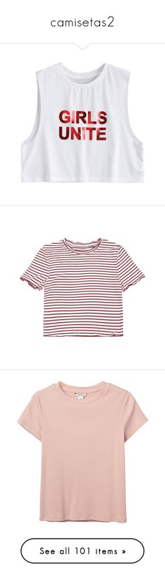"""camisetas2"" by selenaaaaaaaaaaaa8 ❤ liked on Polyvore featuring tops, crop tops, shirts, blusas, white top, cut-out crop tops, drop armhole top, shirt top, initial shirts and t-shirts"