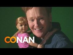 Conan Visits The American Girl Store | Pinned by http://www.thismademelaugh.com