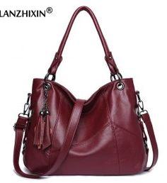 Buy it before it ends. There is always many products on sae upto - Lanzhixin Women Leather Handbags Women Messenger Bags Designer Crossbody Bag Women Bolsa Top-handle Bags Tote Shoulder Bags - Pro Buyerz Hobo Purses, Hobo Handbags, Leather Handbags, Burberry Handbags, Burberry Bags, Designer Crossbody Bags, Designer Shoulder Bags, Girls Bags, Leather Tassel