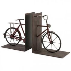 Bisiklet Bookends - Set of 2 - Bicycle Bookends - Unique Bookends - Gifts For Book Lovers | HomeDecorators.com