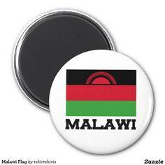 Malawi Flag 2 Inch Round Magnet