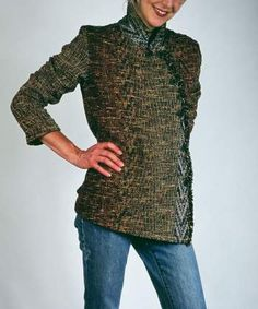 Arlene Wohl - bringing her handwoven jackets to omaha in October 2017 Wearable Art, Hand Weaving, October, Men Sweater, Turtle Neck, Sweaters, Jackets, Fashion, Down Jackets