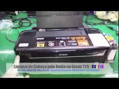 Desentupindo cabeça de impresão, sangria cartucho e mangueiras bulk, Epson T50 R290 T33 ... - YouTube