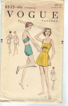 Vintage 1950's Vogue Women's Swimsuit by AtomicRegeneration
