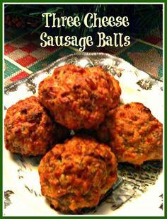 3 cheese sausage balls