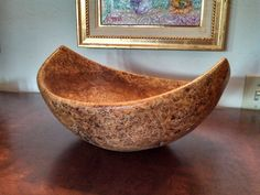 Great shape. Wood turned vessel