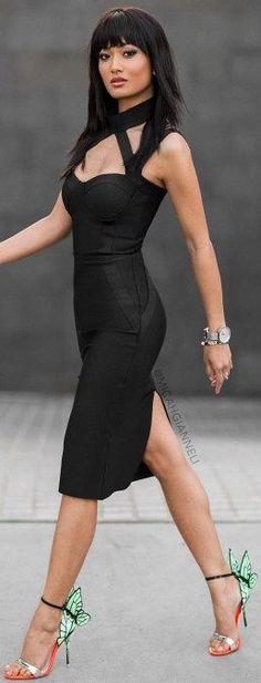 Best foot forward wearing dress from @posh_shop_la + heels from @luisaviaroma  / Micah Gianneli: