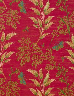Butterfly Garden wallpaper from Thibaut - 839-T-9264 - Pink