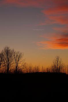 Orange evening sky sunset in winter | Tasteboykott
