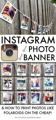 DIY Fantastic Graduation Party Instagram Photo Banner