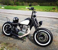 "Suzuki Savage 666cc. Springer fork: 150 /80-16"" ""tires, HD 3""-16"" rim. (Rear tires are 150 /90-15"")"