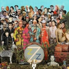 "¡OMG! The Beatles album cover ""Sgt Pepper's Lonely Hearts"" with Wes Anderson cast. I think I'll print it."