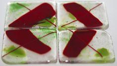 Glass Art Coasters by Joyce Sherwin
