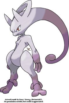 Pre-Reveal Art of Mewtwo Forme by Xous54.deviantart.com on @deviantART