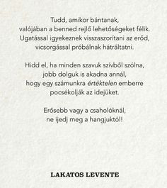 Lakatos Levente Hungarian Writer Runaway Train, Good Sentences, Be Yourself Quotes, Writer, Life Quotes, Wisdom, Positivity, Good Things, Words
