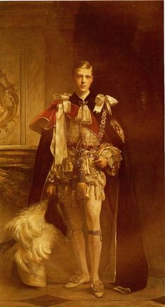Edward VIII, when Prince of Wales, in his Robes of the Order of the Garter.