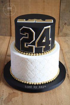 Lebron James themed Cake - iced by kez #1stbirthdaycake #lebronjamescake