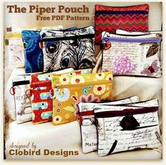 Clobird's Piper Pouch - Free PDF Pattern + Sew and Sell! - Biggest Craft Market…